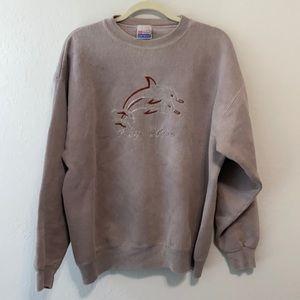 90s Vintage Hanes Key West Dolphin Sweatshirt